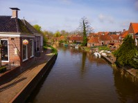 View of Winsum from the bridge over the canal
